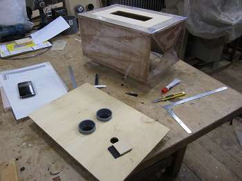 リザーバー(バッファ)ふいご試作:底板の取り付け
